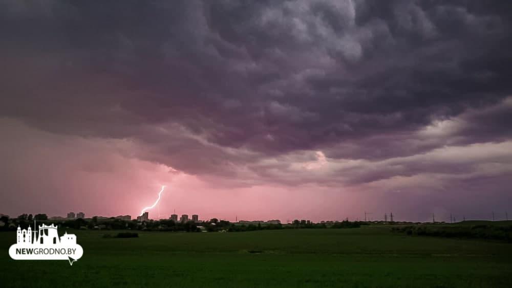 Как над Гродно прошел сильный ливень с градом (фото+видео)