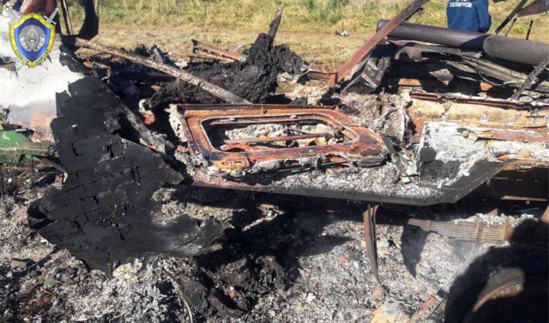 В Щучинском районе при пожаре бытового вагончика погибли два человека